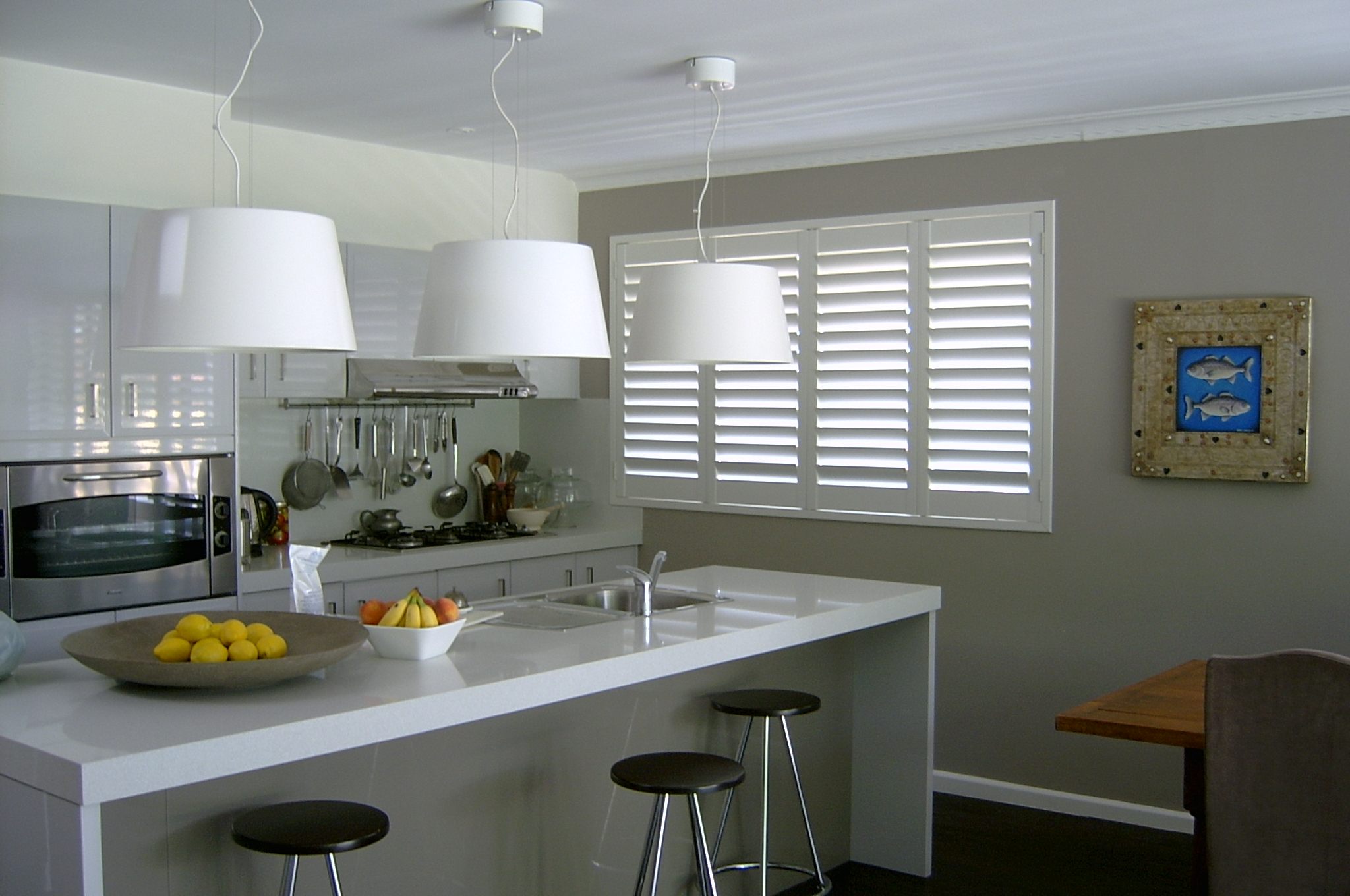 Front image on top of home page  for Internal Shutters